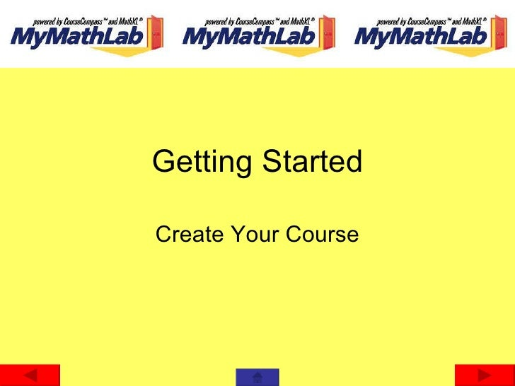 Getting Started Create Your Course