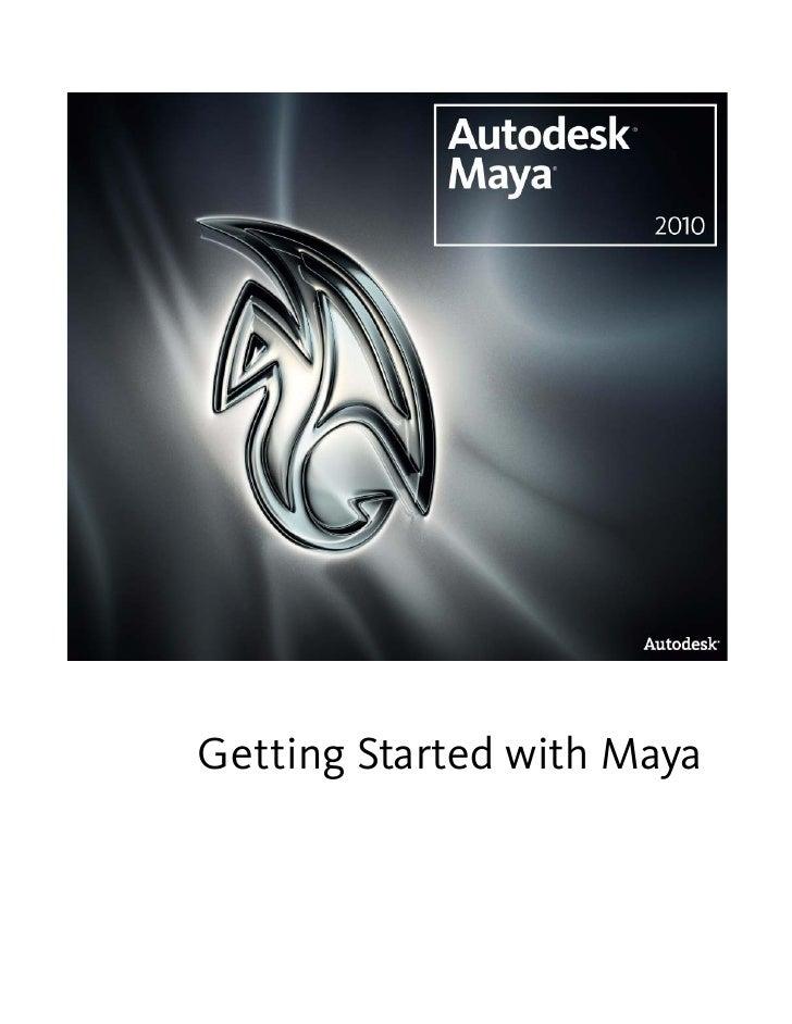 Gettingstartedmaya2010 A1pdf
