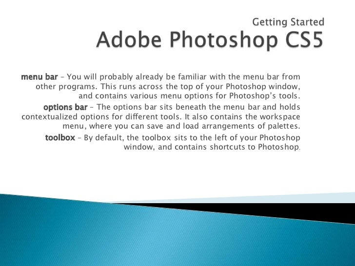 Getting started photoshop