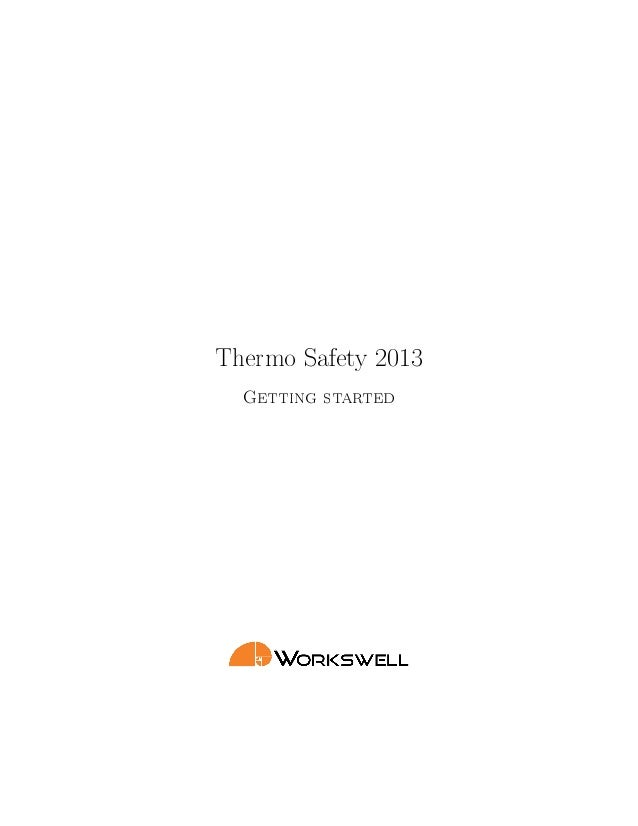 Thermo Safety 2013Getting started