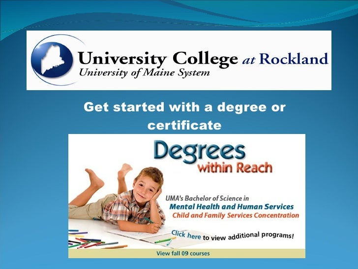 Get started with a degree or certificate