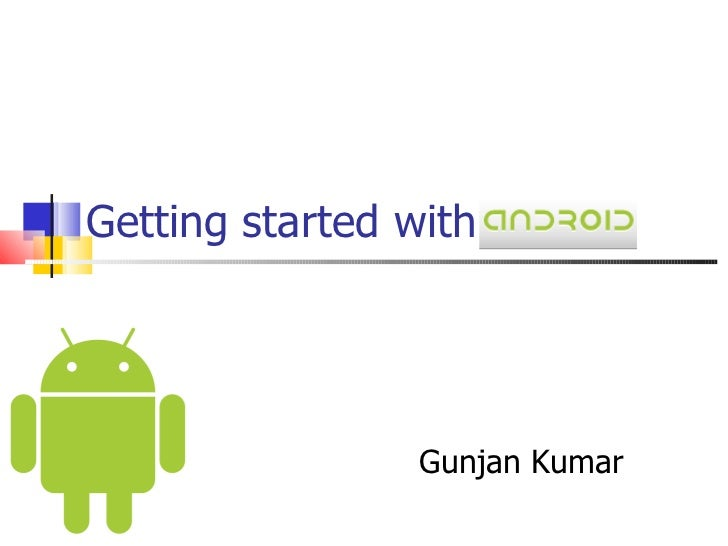 Getting started with android   dev and test perspective
