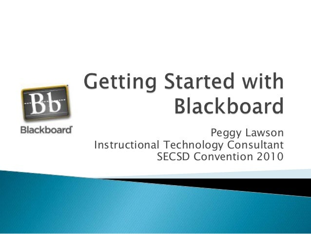 Getting Started with Blackboard