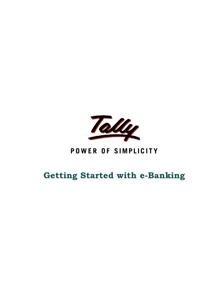 Getting started with e banking for scb | Oracle to Tally | Tally Shopper | Tally Data Conversion
