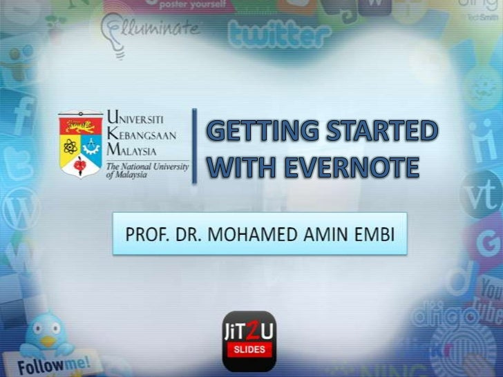 GETTING STARTED WITH EVERNOTE<br />