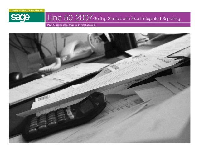 Getting started with excel integrated reporting for sage line 50