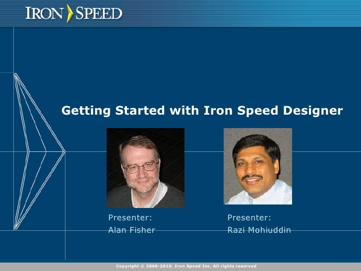 Getting Started with Iron Speed Designer