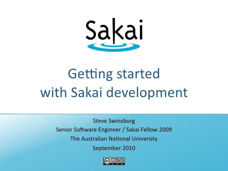Getting started with Sakai development