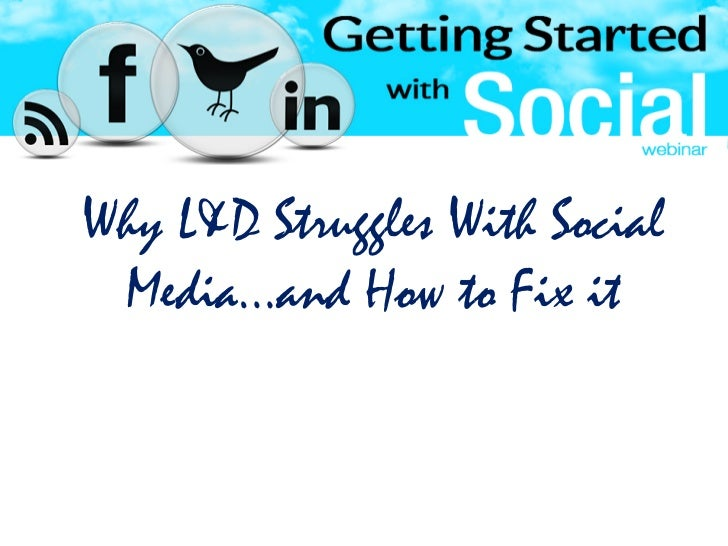 Getting Started With Social Media For Learning
