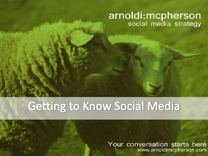 Getting to Know Social Media<br />