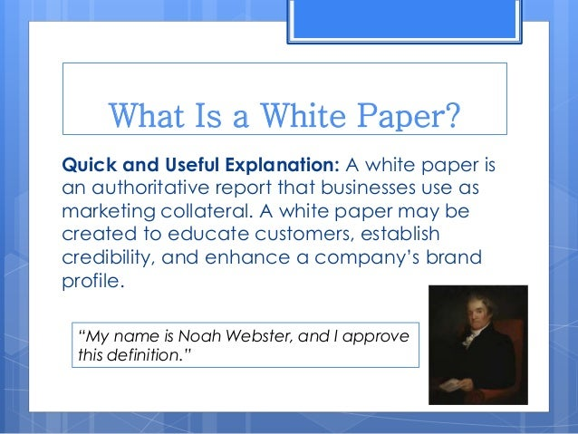 Paper about marketing