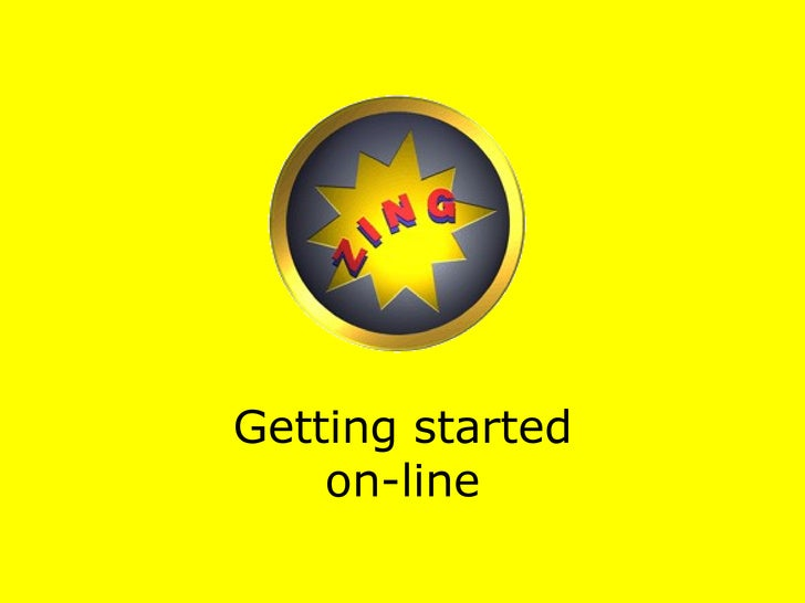 Getting started on-line