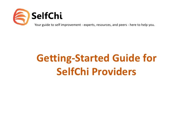 Getting Strated Guide for SelfChi Providers