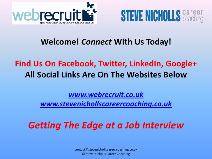 Welcome! Connect With Us Today!Find Us On Facebook, Twitter, LinkedIn, Google+   All Social Links Are On The Websites Belo...