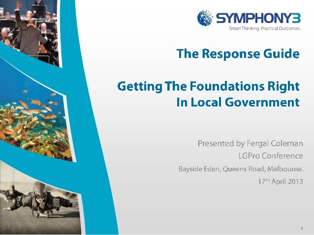 Getting the foundations right in local government -  responding