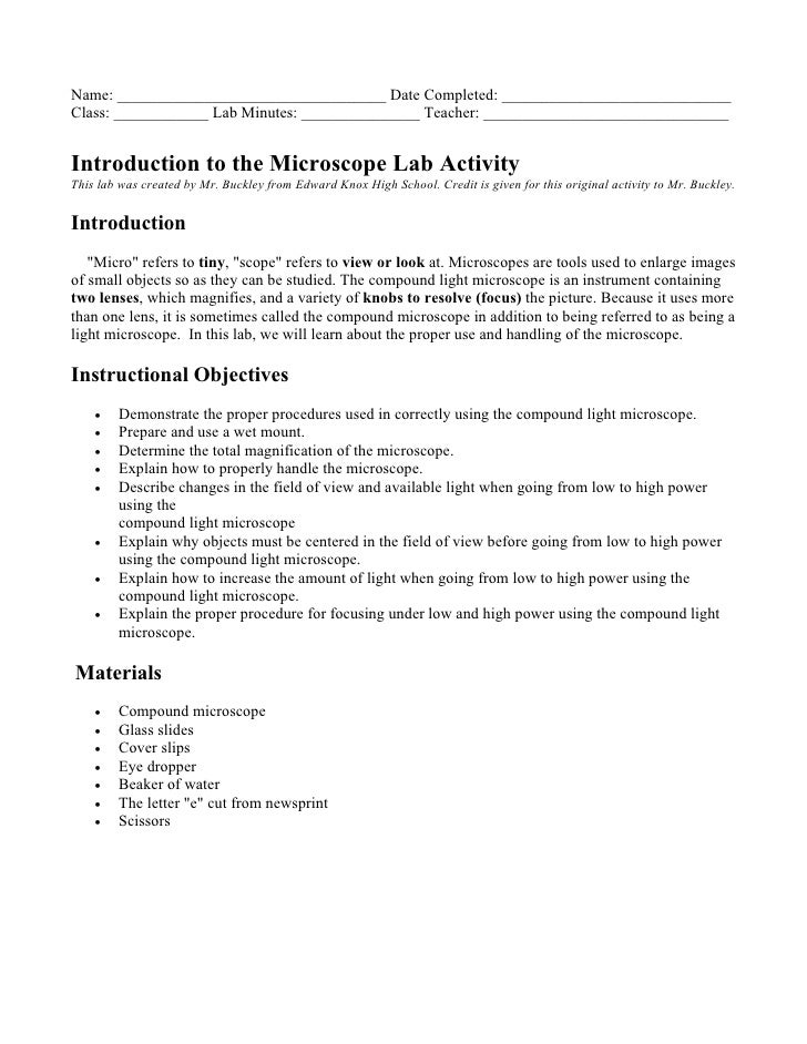introduction for a lab report Writing a lab report is better to begin with the introduction included below is a having sterilized conditions allows for conclusions about life from inorganic matter, instead of life introduced into the.