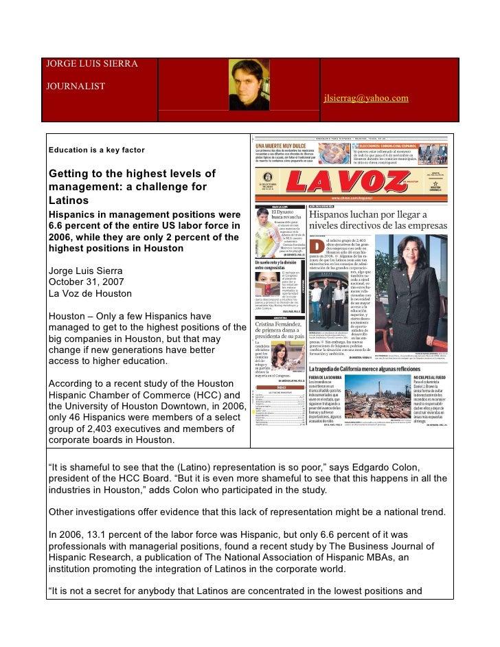 JORGE LUIS SIERRA  JOURNALIST                                                                  jlsierrag@yahoo.com     Edu...