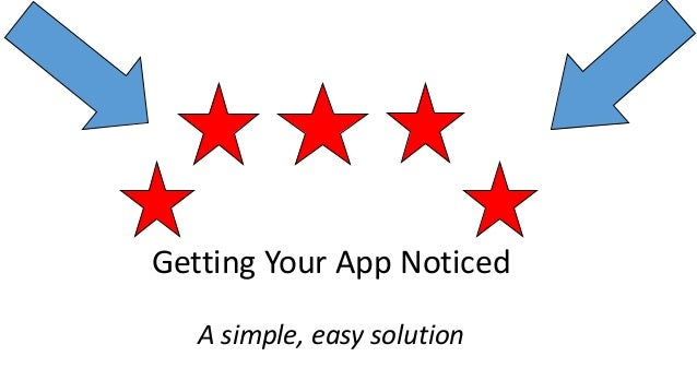Getting Your App Noticed A simple, easy solution