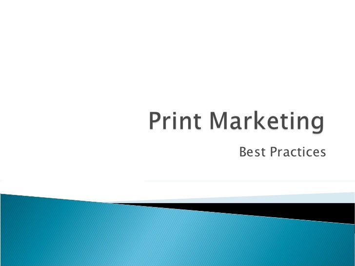 Getting your print marketing right
