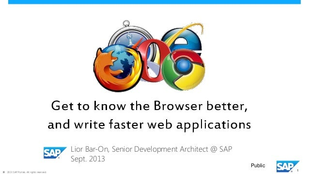 Get to know the browser better   and write faster web apps