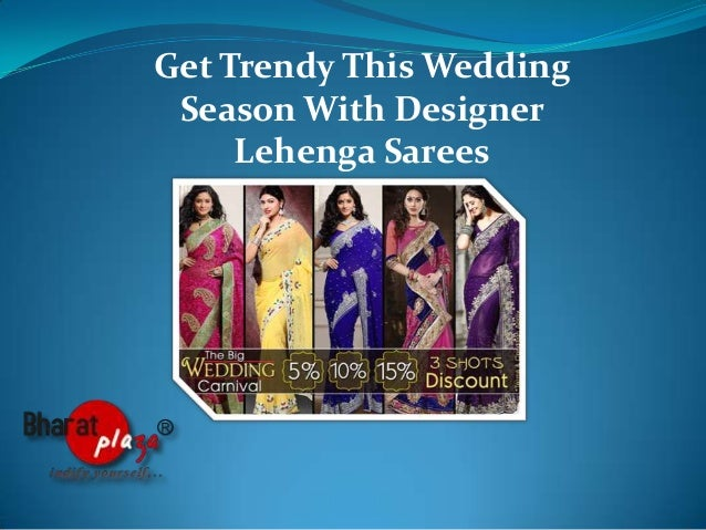 Get trendy this wedding season with designer lehenga sarees