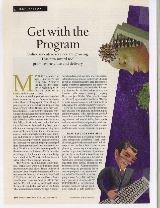 Get With The Program - Selling Power Jan 2000