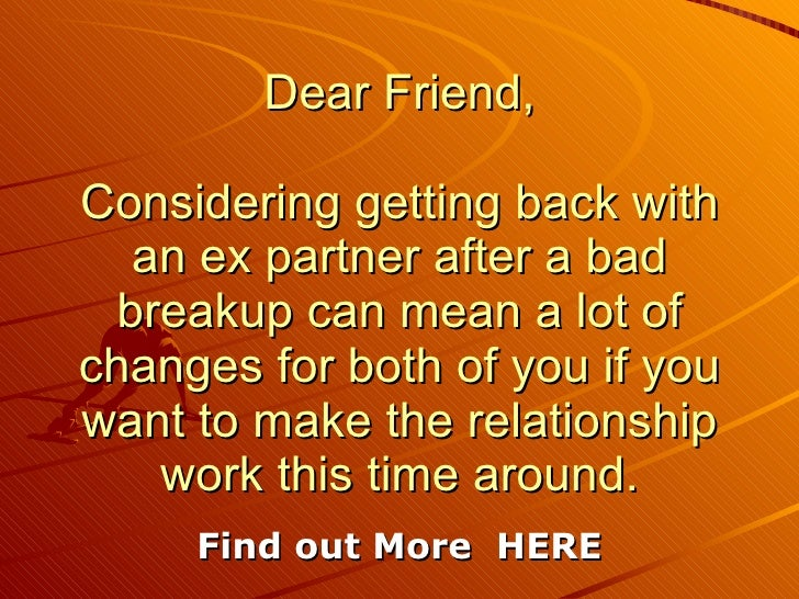 Want To Get Back Together With Ex