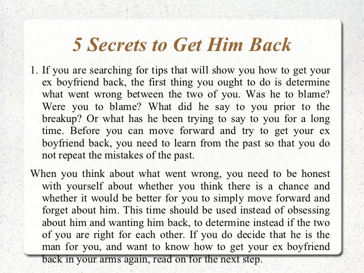How to get your boyfriend back