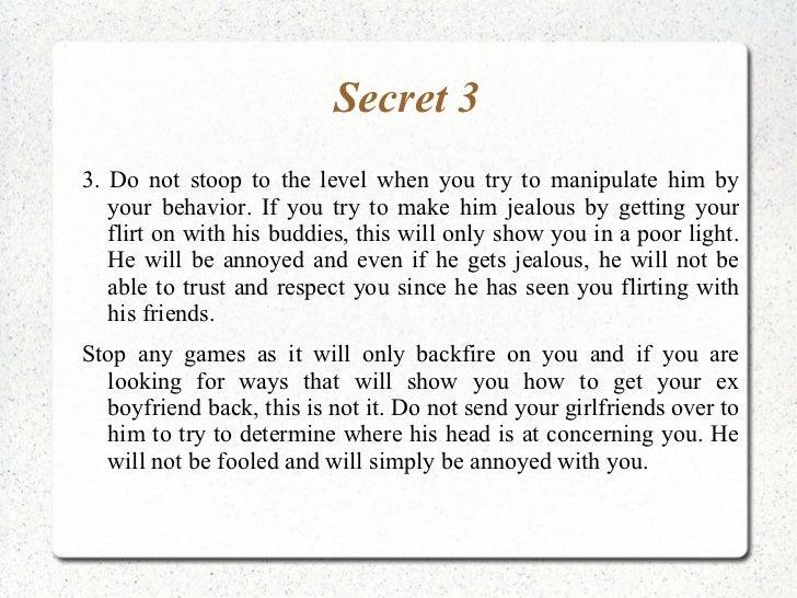 how to flirt with your boyfriend secrets