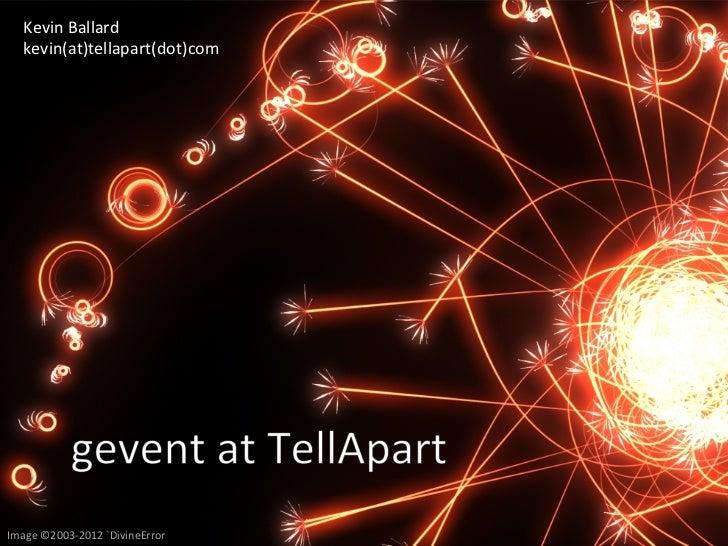 Gevent at TellApart