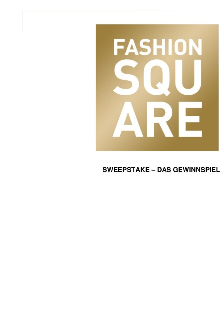 SWEEPSTAKE – DAS GEWINNSPIELSeptember 2007                                  1