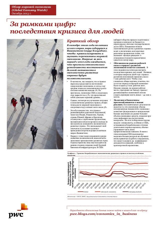 Обзор мировой экономики (октябрь 2013)