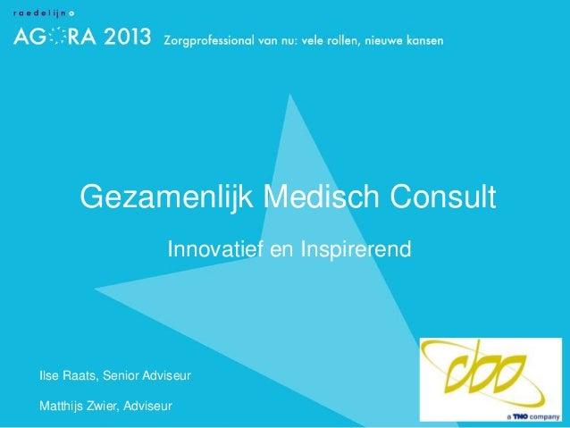 Gezamenlijk medisch consult Agora 2013