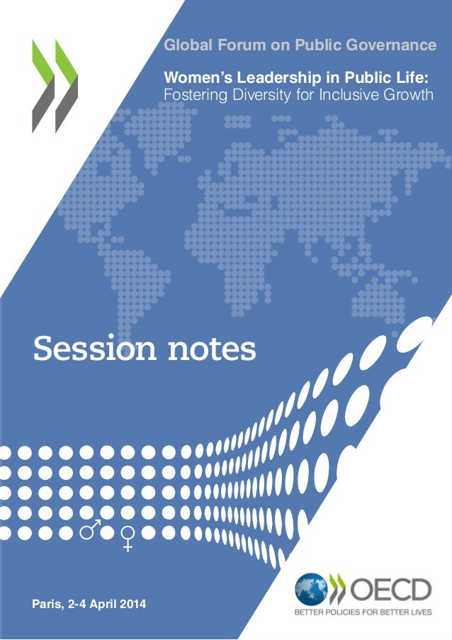 Women's Leadership in Public Life - Global Forum on Public Governance, Session Notes