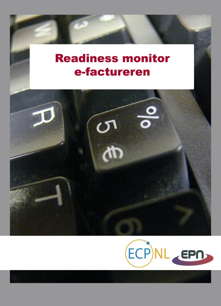 Monitor readiness e-Factureren dienstverleners