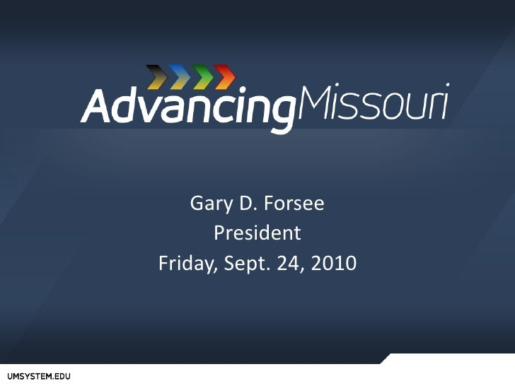 Gary D. Forsee<br />President<br />Friday, Sept. 24, 2010<br />