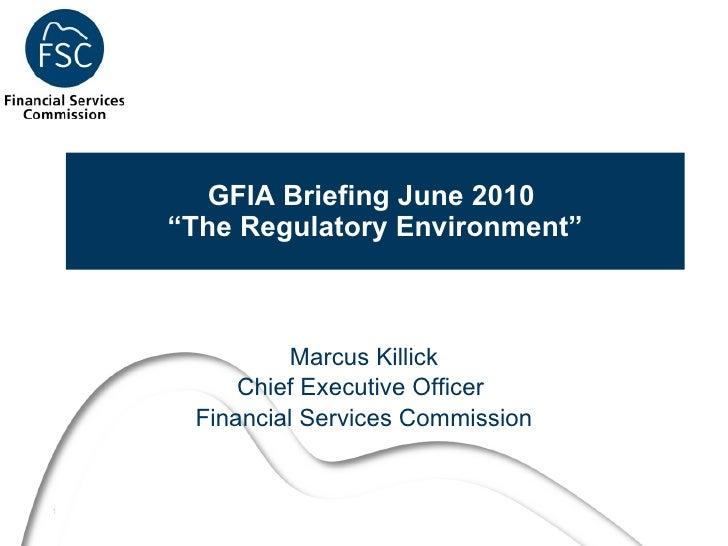 Gibraltar Fund Industry Association Briefing Lonon June 2010