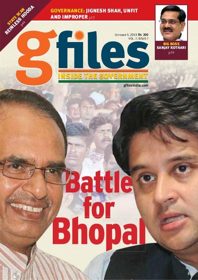 RE S IN TA LE TE S SC p4 S H AN 4 OO DA  GOVERNANCE: JIGNESH SHAH, UNFIT AND IMPROPER p12 October 5, 2013 VOL. 7, ISSUE 7 ...