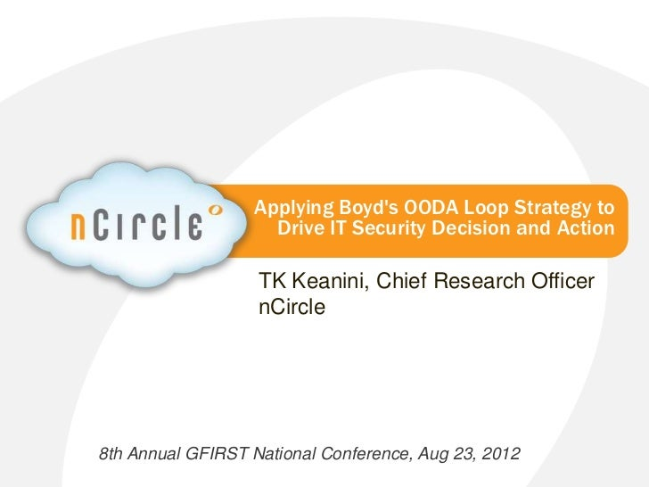 Applying Boyd's OODA Loop Strategy to Drive IT Security Decision and Action