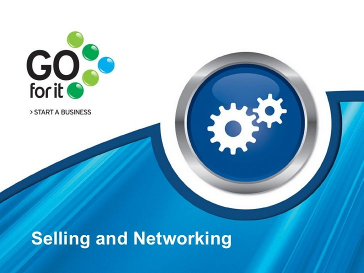 Selling and Networking