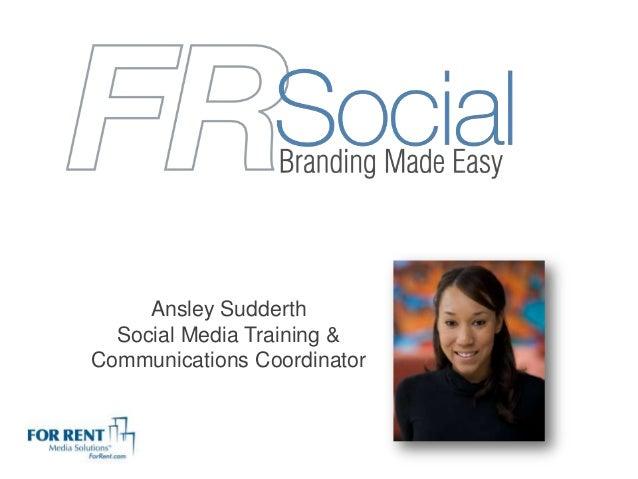Ansley SudderthSocial Media Training &Communications Coordinator
