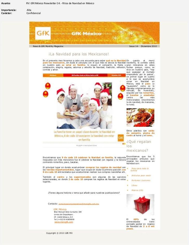 Gf k méxico newsletter 14.   ritos de navidad en méxico