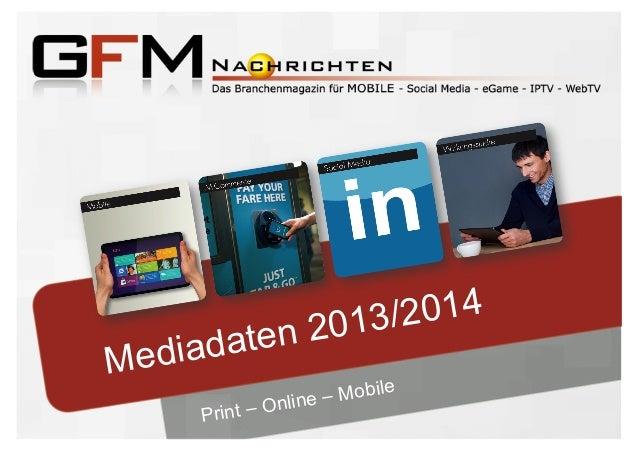 GFM Nachrichten - Mediadaten 2013