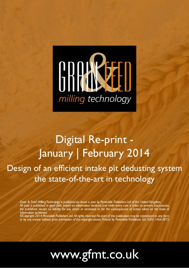 Digital Re-print January   February 2014 Design of an efficient intake pit dedusting system the state-of-the-art in techno...
