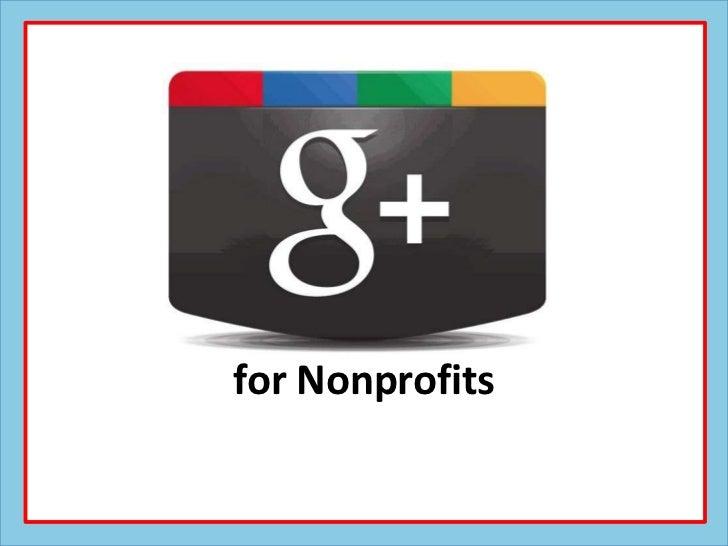 Google+ for Nonprofits