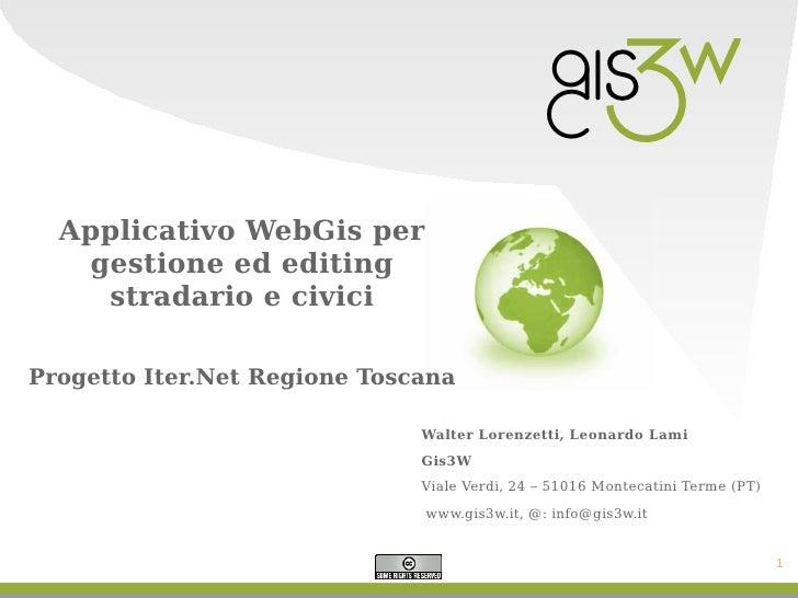 Gfossday Gis3w 2009 - IterWeb