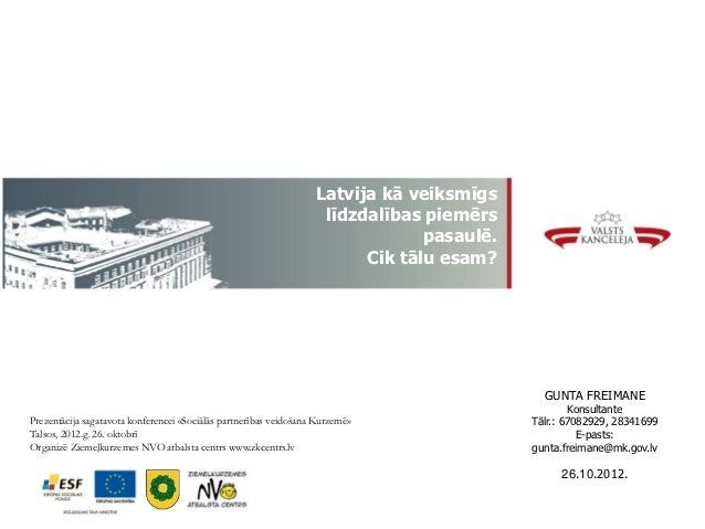 Gunta Freimane: līdzdalības iespējas Latvijā