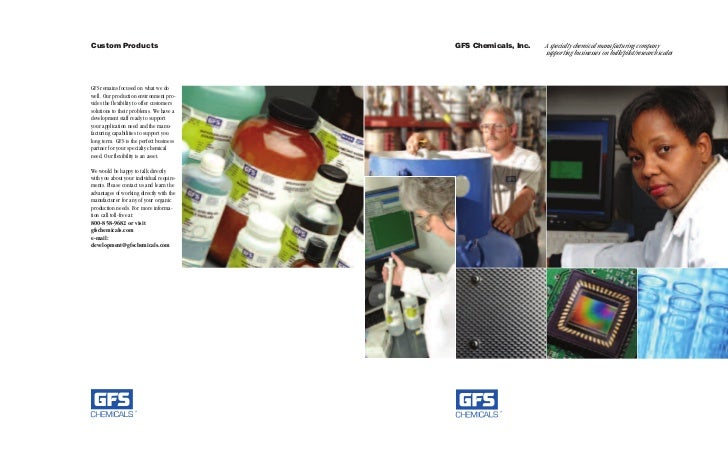 Custom Products                            GFS Chemicals, Inc.   A specialty chemical manufacturing company               ...