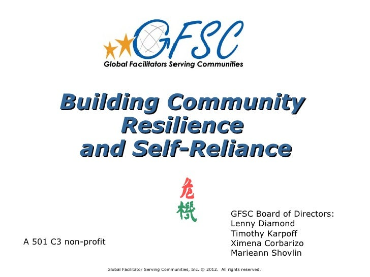 Building Community             Resilience         and Self-Reliance                                                       ...