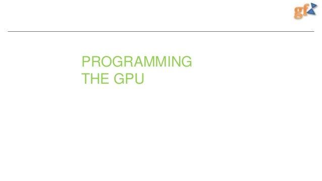 PROGRAMMING THE GPU